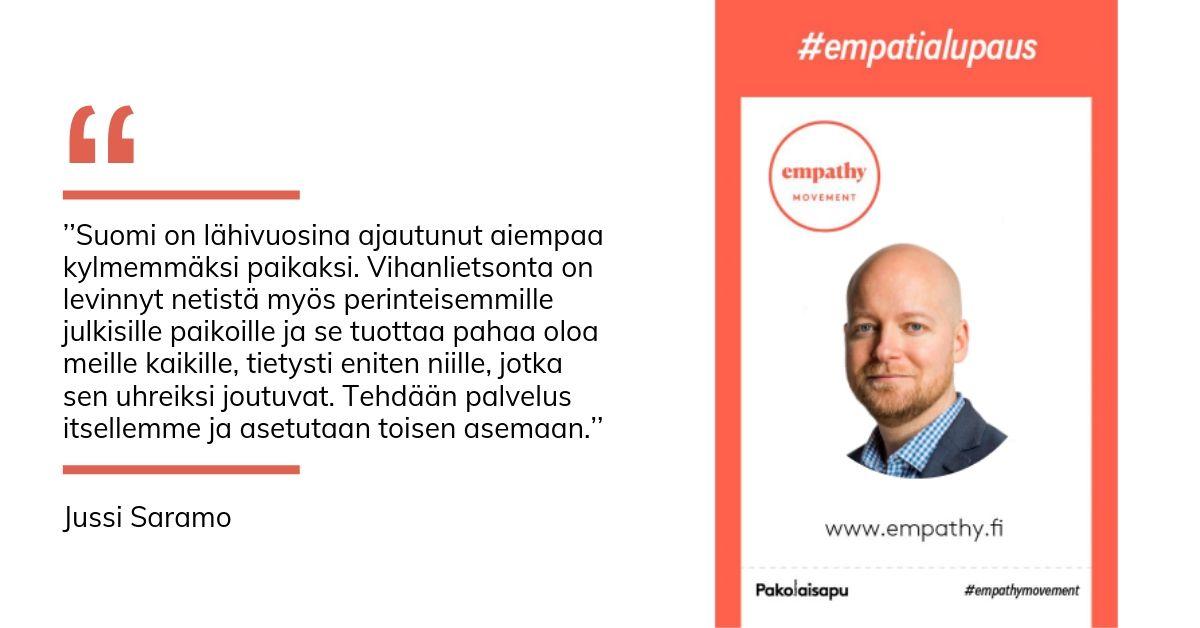 Jussi Saramon empatialupaus