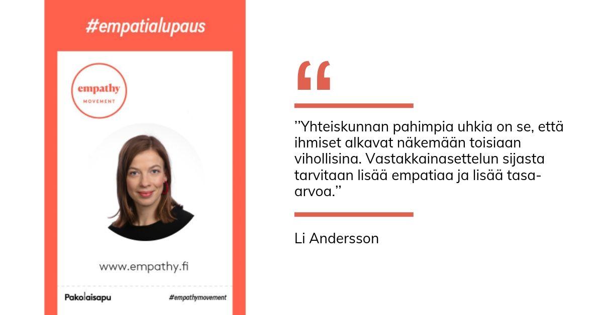 Li Anderssonin empatialupaus